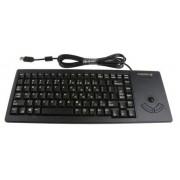 Cherry Tastiera con funzione trackball Nero Cablato USB , QWERTY (US) Compatta, G84-5400LUMEU-2