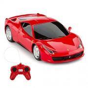 Rastar Ferrari Remote Control Car, 1/24 Scale 458 Italia Model Red Toy 27 Mhz