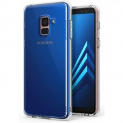 Husa Samsung Galaxy A8 Plus 2018 Ringke FUSION CLEAR + BONUS folie protectie display Ringke
