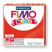 Gyurma, 42 g, égethető, FIMO Kids, piros