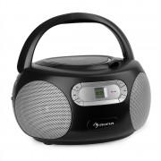 Auna Haddaway, CD boombox, CD плейър, bluetooth, FM, AUX вход, LED дисплей, черен (KBB-250-Haddaway BK)