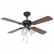 Faro Ceiling fan, classic, brown, with light, 107 cm FARO, Lisbon 33102