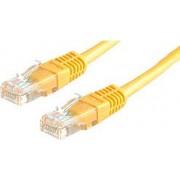 Kabel mrežni Roline UTP Cat 5, 0.5m, (24AWG) High Quality, žuti