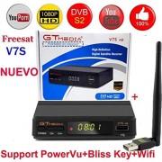 MeterMall Receptor digital de televisión por satélite digital Freesat V7S HD FTA DVB-S2/S compatible con BissKey 1080P SZXJY-0302CE0AEA063D79