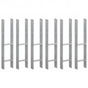 vidaXL Fence Anchors 6 pcs Silver 12x6x60 cm Galvanised Steel