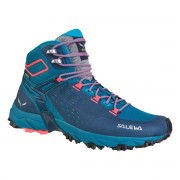 Salewa WS ALPENROSE ULTRA MID GTX-Blue Sapphire/Fluo Coral-7 - Gr. 7