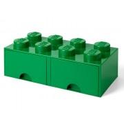 40061734 Cutie depozitare LEGO 2x4 cu sertare, verde