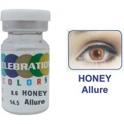 Celebration Conventional Colors Yearly Disposable 2 Lens Per Box With Affable Lens Case And Lens Spoon(Honey Allure-3.50)