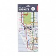 Hűtőmágnes, New York metró térkép