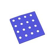 Modrý plastový roh AT-STD, AvaTile - délka 13,7 cm, šířka 13,7 cm a výška 1,6 cm