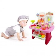 Kids Toy ChainSee2017 Fashion Fully Educational Toy Pretend Play Mini Supermarket Cash Register Shopping Cart Toys Set Gift 34pcs