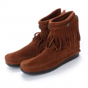 【SALE 35%OFF】ミネトンカ Minnetonka Hi Top Back Zip Boots (ブラウン) レディース