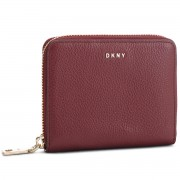 Голям дамски портфейл DKNY - Sm Zip Around- Pebbl R831A656 Blood Red XOD