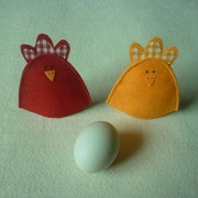 Electroprime® 2pcs Lovely Chick Easter Egg Covers Holder Wrap Holiday Ornament Present