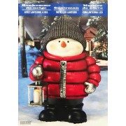 2Ft (61Cm) Standing Snowman With Led Lantern Christmas Decorations