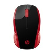 HP 200 Mouse - Radio Frequency - USB - Optical - 3 Button(s) - Empress Red