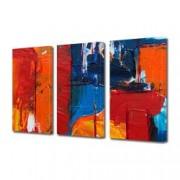 Tablou Canvas Premium Abstract Multicolor Culori Turbate Decoratiuni Moderne pentru Casa 3 x 70 x 100 cm