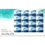 Sheetlet 17 Aug.'2007 Landmark Bridges of India. Vidyasagar Setu Bridge (16 Stamps)