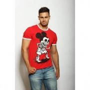 """Epatage Прикольная футболка с принтом """"Микки Маус"""" красного цвета Epatag RT040237m-EP"""