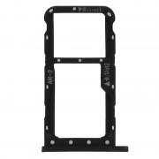 Avizar Bandeja de Substituição para Cartão Nano SIM Preta para Huawei P 20 Lite
