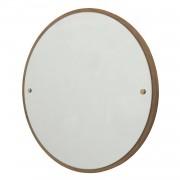 Circle Spegel L, Ek/Mässing