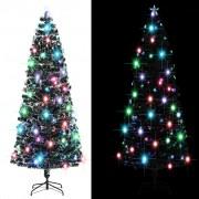 vidaXL Изкуствено коледно дърво със стойка/LED, 240 см, 380 клончета