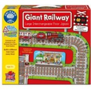 Puzzle gigant de podea Cale ferata 26 piese GIANT RAILWAY