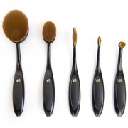 Rio Five Piece Cosmetic Brush Set Oval BROM