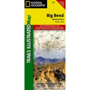 Wandelkaart - Topografische kaart 225 Trails Illustrated Big Bend National Park | National Geographic