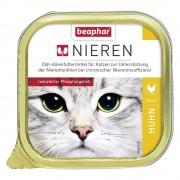 6х100г beaphar за бъбреци, диетична консервирана храна за котки, със сьомга