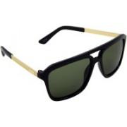 ELS Retro Square Sunglasses(Green)