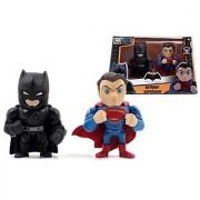 New Batman V Superman ALTERNATIVE VERSION Merchandise - 4 Metal DieCast (Die-Cast) BATMAN V SUPERMAN TWIN PACK Action Figures By Jada Toys Set of 2 Figures