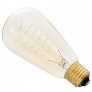 Античен декор крушка [in.tec]® Edison, ø64mm x В140mm, 40Watt