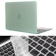 ENKAY Hat-Prince 2 in 1 Crystal Hard Shell Plastic Protective Case with Keyboard Guard for Macbook 12 inch(Green)