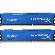 Kingston 8 GB DDR3-RAM - 1866MHz - (HX318C10FK2/8) Kingston HyperX Fury Blue-Serie CL10