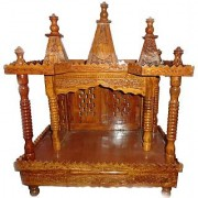 Shilpi Beautiful Wooden Temple/Mandir Extra Large Size Made From Sheesham Wood