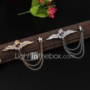 Heren Dames Broches imitatie Diamond Legering Modieus Elegant Wings Zilver Gouden SieradenBruiloft Feest Speciale gelegenheden