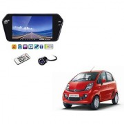 7 Inch Full HD Bluetooth LED Video Monitor Screen with USB Bluetooth + 8 LED Reverse Parking Camera For Tata Nano