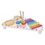 Pidoko Kids All-in-one Melody Making Baby Activity Center - Multifunction Mighty Mini Band Wooden Percussion Instrument - Musical Play for Toddlers Preschool Age