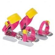 Nijdam roze/geel schaatsen voor kids