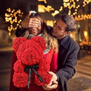 Ursulet trandafiri Rosu 40 cm