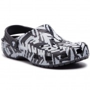 Crocs Klapki CROCS - Classic Graphic II Clog 205322 Light Grey/Black