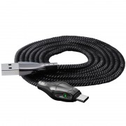 BENKS 1.2m Cool Snake Shaped Nylon Woven Type-C Data Sync USB Charging Cable