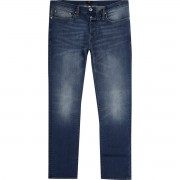 River Island Mens Mid Blue fade Dylan slim fit jeans