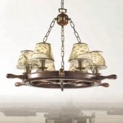 Impressive Porto chandelier six-bulb