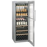 Vitrina pentru vinuri Liebherr WTpes 5972, 516 L, 155 sticle, Rafturi lemn, Control electronic, Display, H 192 cm, Clasa A, Inox