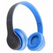 KELIMA P47 Auricular Bluetooth estereo creativo con TF? Radio - Azul