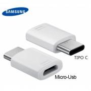 Adaptador Samsung Micro Usb para Tipo C Branco Original em Bulk (GH98-40218A)