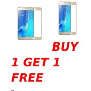 Samsung Galaxy J7 Max 5D Golden Tempered Glass Combo Deal Buy 1 Get 1 Free Standard Quality