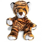 Tiger The Terrific by Build A Furry Friend. Cuddly Soft Plush 16 Inch Stuffed Animal. Handmade quality. Includes stuffing, star-heart & birth cert. Stuff, zip, hug in 2 min. Voted Best Gift 2015.